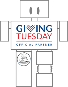 Giving Tuesday 2018 Robot with Logo